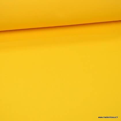 Tissu gabardine sergé polyester coton coloris Jaune