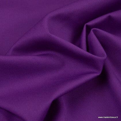 Tissu gabardine sergé coloris Violet