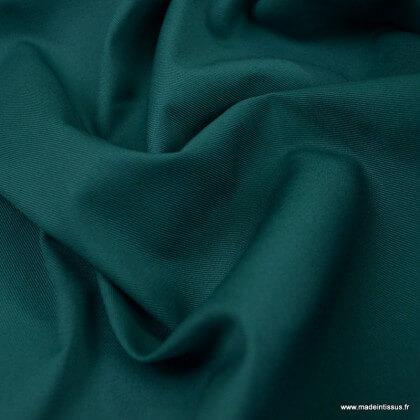 Tissu gabardine sergé coloris Vert