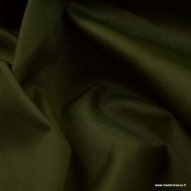 Tissu gabardine sergé coloris Kaki foncé