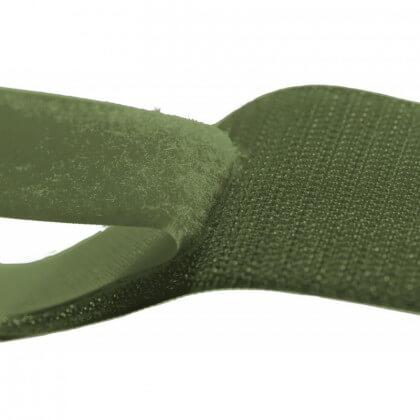 Velcro 20mm male + femelle vert Armée