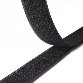Velcro à coudre 20mm male + femelle Noir