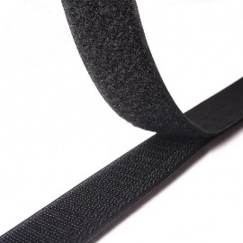 Velcro 20mm male + femelle Noir