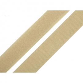 Velcro à coudre 20mm male + femelle Beige
