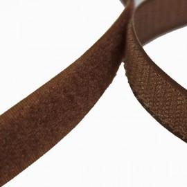Velcro à coudre 20mm male + femelle Marron