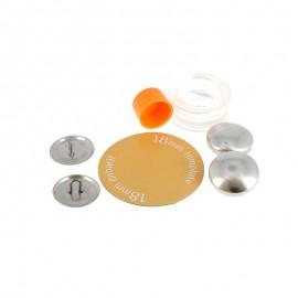 5 Boutons à recouvrir en métal 18mm