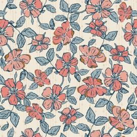 Tissu Popeline coton fleurs Crafted Blooms Vanilla -  Art Gallery Fabrics - Oeko tex