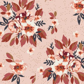 Tissu Popeline coton fleurs Togetherness At Heart -  Art Gallery Fabrics - Oeko tex