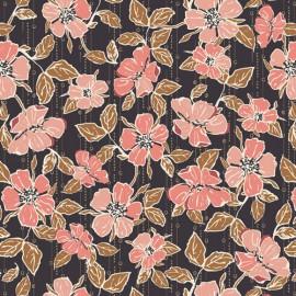 Tissu Popeline coton fleurs Crafted Blooms Cacao -  Art Gallery Fabrics - Oeko tex