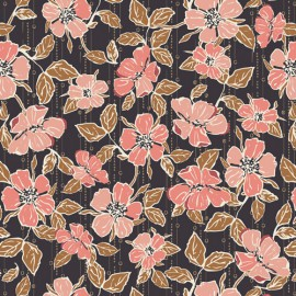 Tissu Popeline coton fleurs Crafted Blooms Cacao -  Art Gallery Fabrics - Oeko tex