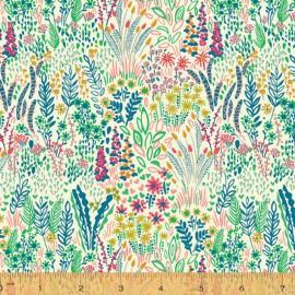 Tissu Popeline coton fleurs Solstice - Windham Fabrics - Oeko tex