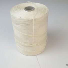 Bobine ficelle contact alimentaire 1.1mm en lin blanchi 3 bouts, 1kg