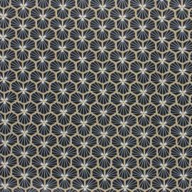 Tissu coton Riad Enduit coloris Noir Oeko tex