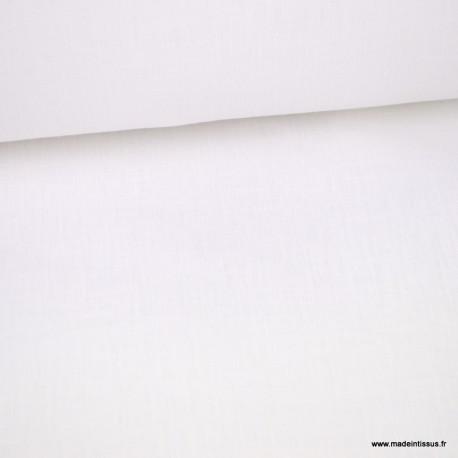 Tissu lin super soft blanc optique pour draps en grande largeur - haut de gamme