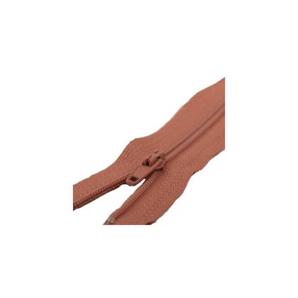 Fermeture type Zip en nylon. coloris Rouille