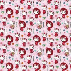 Tissu Hello Kitty Kimono Japonais - oeko tex