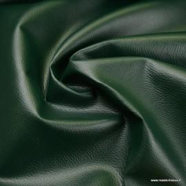 Tissu Simili cuir ameublement rigide Vert Sapin