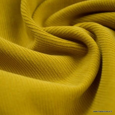 Tissu velours côtelé milleraies Moutarde