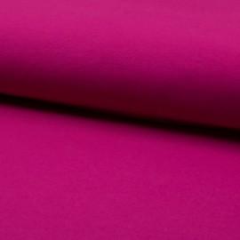 Tissu Popeline en coton Bio & oeko tex uni Fuchsia