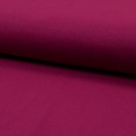 Tissu Popeline en coton Bio & oeko tex uni Framboise