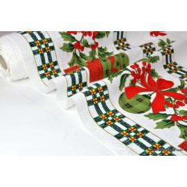 Tissu pour décoration nappes de noel x50cm