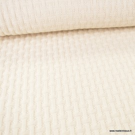 Maille tricot Albstoffe Sweet Home - Coloris Crème - GOTS