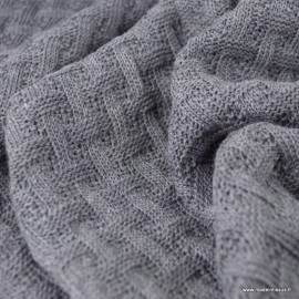 Maille tricot Albstoffe Sweet Home - Coloris Gris anthracite - GOTS