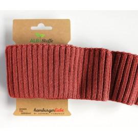 Tissu Embouts de manche (bord-cote) coton bio Rouille 110x7cm - CUFF ME