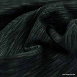 Tissu lycra respirant bi elastique pour legging de sport Gris et Noir