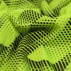 Tissu lycra respirant bi elastique pour legging de sport Jaune fluo