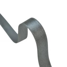 Ruban SATIN double face GRIS ANTHRACITE , 10 mm, au mètre