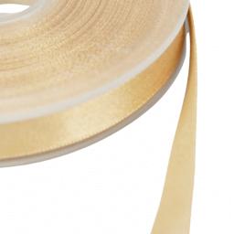 Ruban SATIN LUREX OR - TRAME BEIGE, 10 mm, au mètre