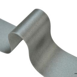 Ruban SATIN GRIS, 38 mm, au mètre