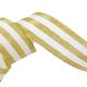 Galon Rayures Lurex Or et blanc 30 mm