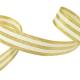 Galon Rayures Lurex Or et Ecru 15 mm