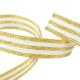 Galon Rayures Lurex Or et blanc 15 mm