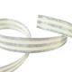 Galon Rayures Lurex Argent et Ecru 15 mm