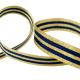 Galon Rayures Lurex Or et Marine 15 mm