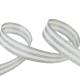 Galon Rayures Lurex Argent et blanc 15 mm