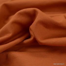 Tissu jersey Bio coloris Terracotta -  GOTS & Oeko tex