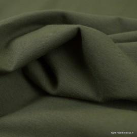 Tissu jersey Bio coloris Kaki -  GOTS & Oeko tex