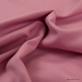 Tissu jersey Bio coloris rose -  GOTS & Oeko tex