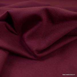 Tissu jersey Bio coloris Prune -  GOTS & Oeko tex