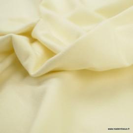 Tissu jersey Bio coloris Ecru -  GOTS & Oeko tex