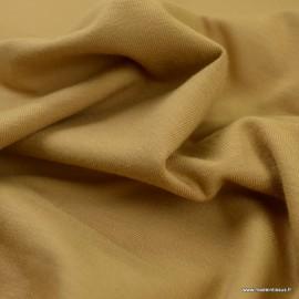 Tissu jersey Bio coloris Camel -  GOTS & Oeko tex