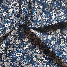 """Tissu coton Kokka fleurs bleu """"Retro Collection"""" - Oeko tex"""