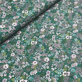 "Tissu coton Kokka fleurs Vert ""Retro Collection"" - Oeko tex"