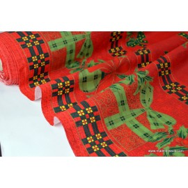 Tissu pour décoration nappes de noel .x 1m