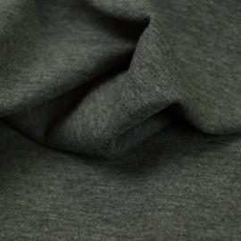 Tissu jersey chiné coloris gris foncé - oeko tex