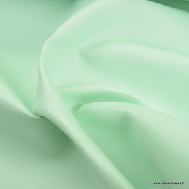 Tissu Simili cuir ameublement rigide Menthe